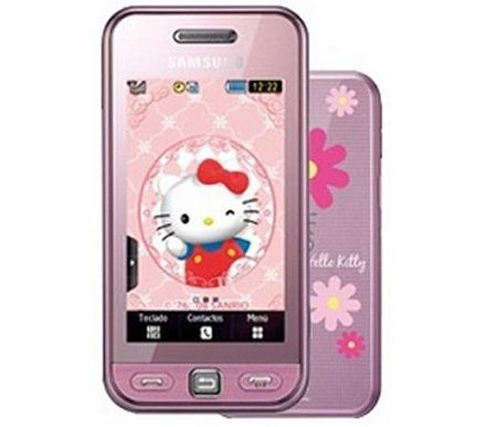 telefono kitty samsung rosa  - Samsung de Hello Kitty
