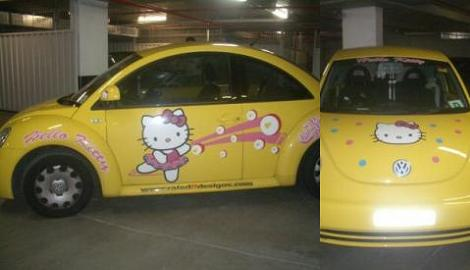 coches hello kitty new beetle