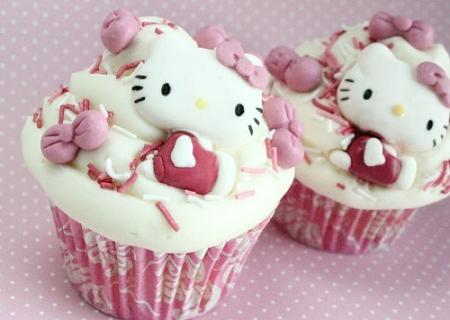 Cupcakes Kitty  - Cupcakes Hello Kitty
