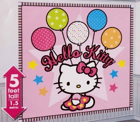 decoracion pared hello kitty