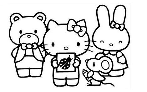 dibujos hello kitty imprimir amigos