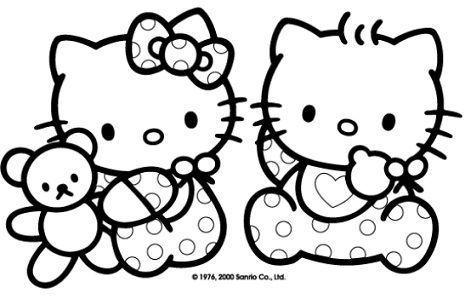 dibujos hello kitty imprimir bebes  - 7 Dibujos de Hello Kitty para colorear