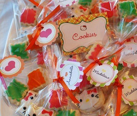 fiesta cumpleanos hello kitty cookies