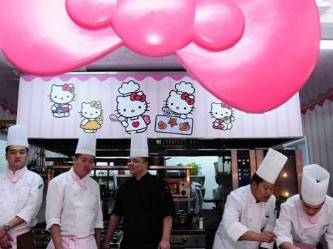 fotos hello kitty divertidas restaurante  - Fotos de Hello Kitty divertidas