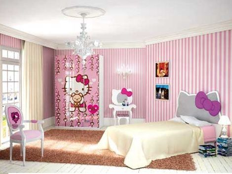 habitacion hello kitty cabecero  - Habitación de Hello Kitty