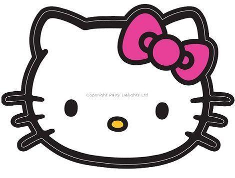 invitaciones cumpleanos hello kitty imprimir cabeza  - Invitaciones de cumpleaños de Hello Kitty para imprimir