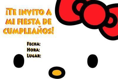 Invitaciones De Cumpleaños De Hello Kitty Para Imprimir