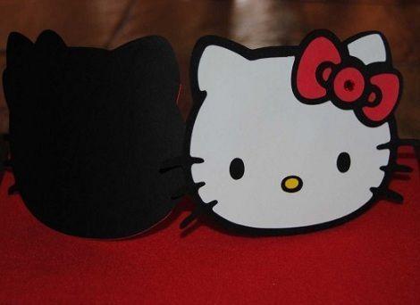 invitaciones hello kitty originales cara