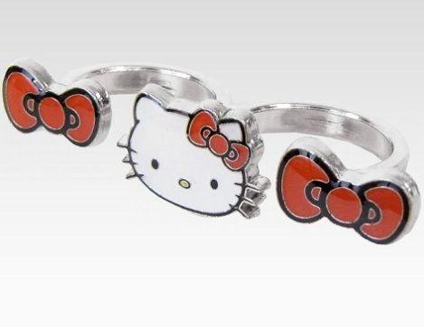 joyas hello kitty anillo doble