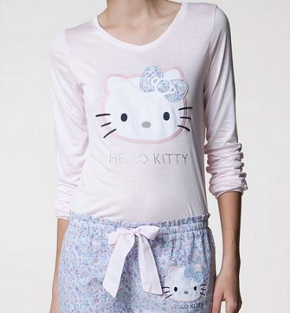 pijamas hello kitty oysho largo combinado