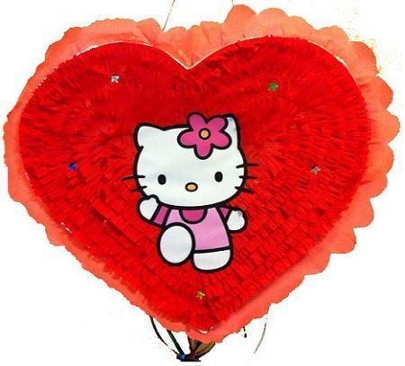 pinata hello kitty corazon