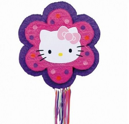 pinata hello kitty flor