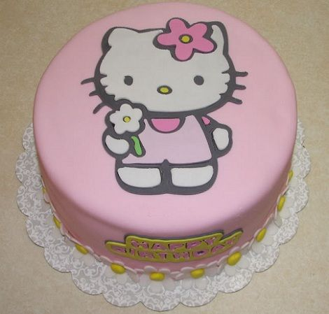 tarta hello kitty dibujada