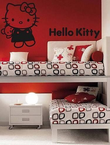 vinilos hello kitty negro