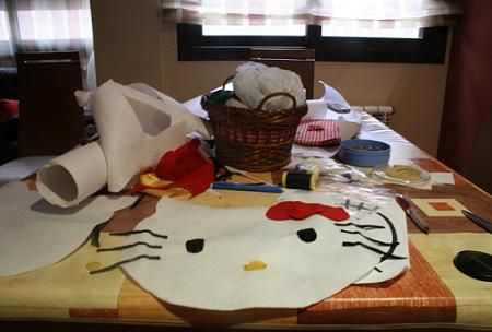 hello kitty probaras a hacer este cojin dormitorio kitty fieltro kitty