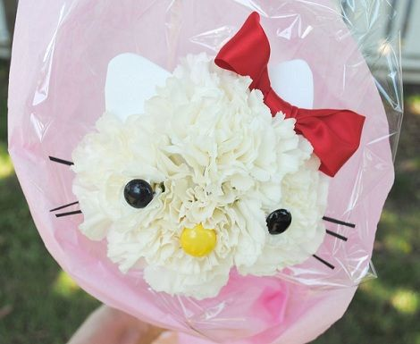 hello kitty flores final  - Decorar una fiesta de Hello Kitty