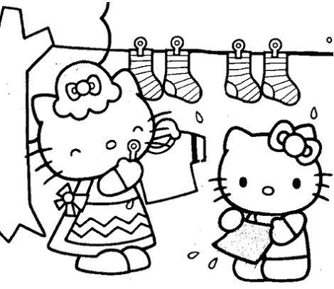 hello kitty para colorear tendal
