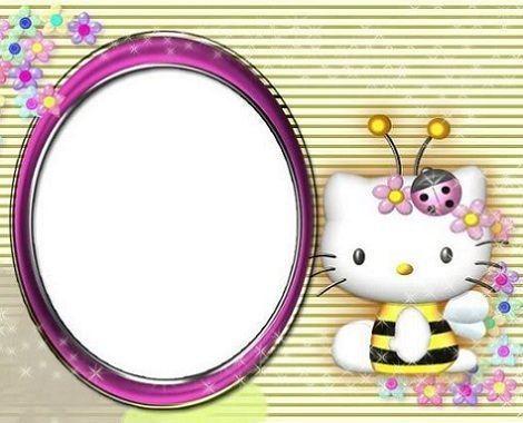 invitaciones cumpleanos hello kitty abeja