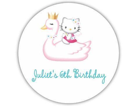 invitaciones cumpleanos hello kitty cisne