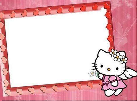 invitaciones cumpleanos hello kitty corazones