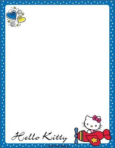 invitaciones hello kitty imprimir avion