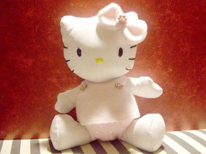 manualidades peluche hello kitty  - Manualidades de Hello Kitty