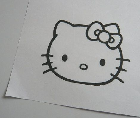 molde hello kitty goma plantilla