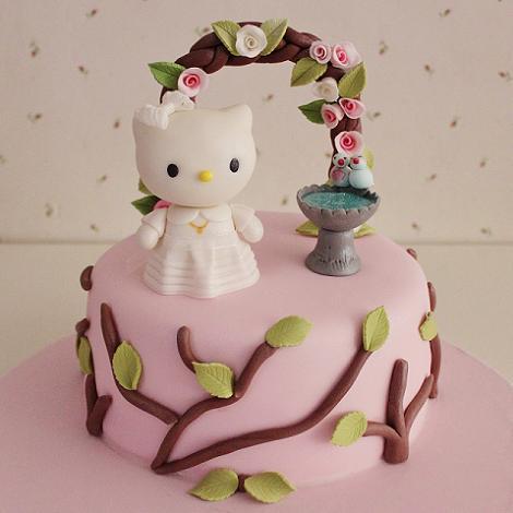 Pastel de Comunión Hello Kitty
