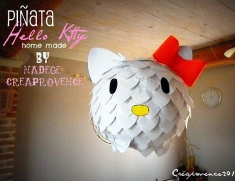 pinata hello kitty paso a paso