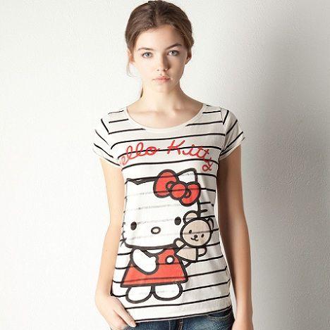 ropa hello kitty pull and bear camiseta rayas