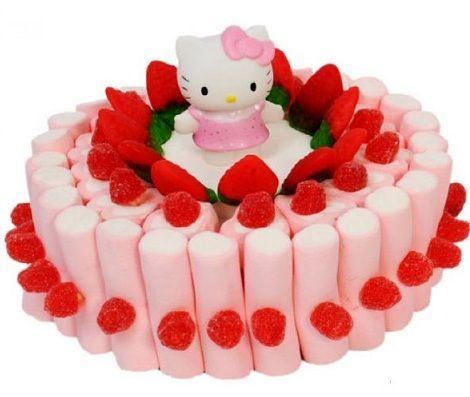 tarta hello kitty chuches basica