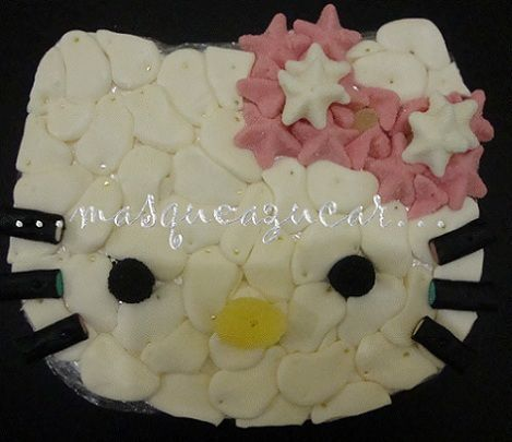 tarta hello kitty chuches huevos