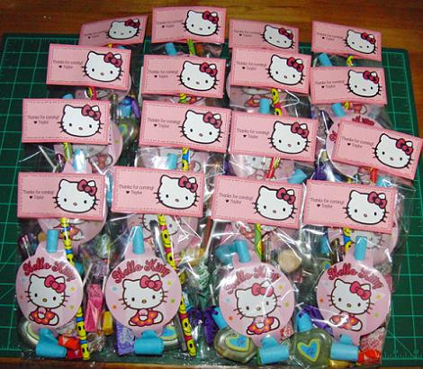 Bolsas cumpleaños Hello Kitty