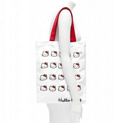 bolsos kitty blanco caras probador  - Bolsos de Hello Kitty