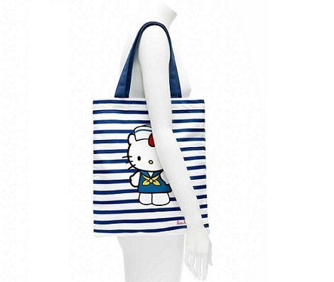 bolsos kitty blanco rayas probador  - Bolsos de Hello Kitty