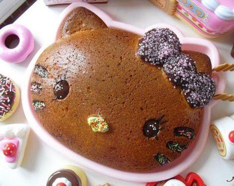 comida hello kitty bizcocho