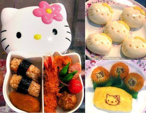 comida hello kitty