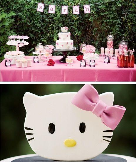 fiesta cumpleanos hello kitty mesa dulces