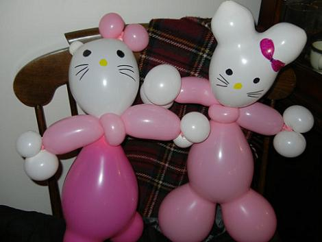 Globoflexia Hello Kitty  - Hello Kitty con globos