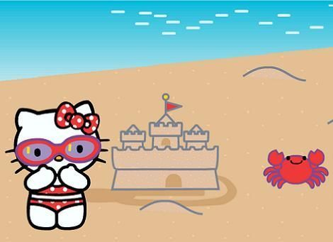 Hello Kitty beach