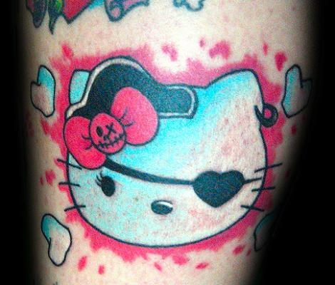 Hello Kitty pirata  - Tatuajes Hello Kitty