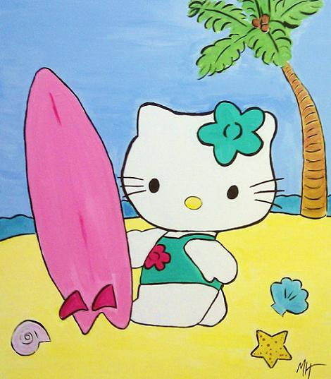 Hello Kitty surf