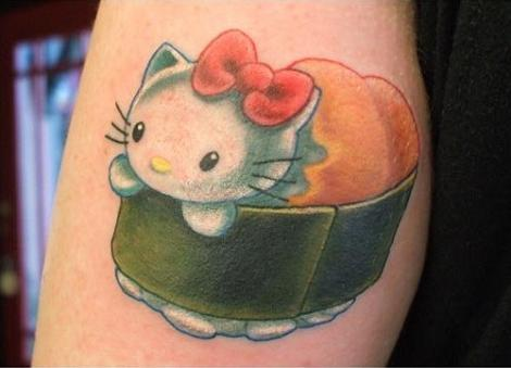 Hello Kitty sushi  - Tatuajes Hello Kitty