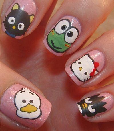 Ideas para decorar tus uñas de Hello Kitty