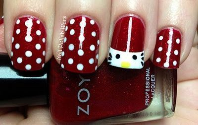 hello kitty unas granates