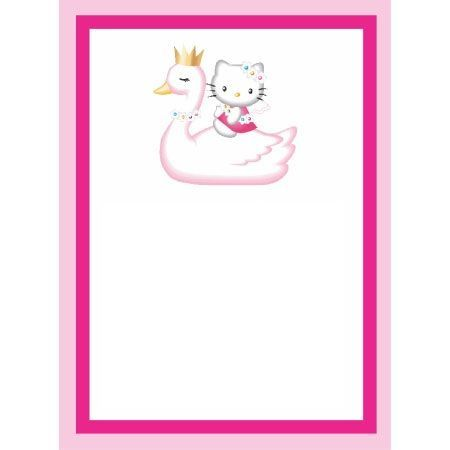 invitaciones hello kitty cumpleanos cisne