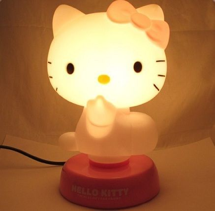 lamparas hello kitty iluminada