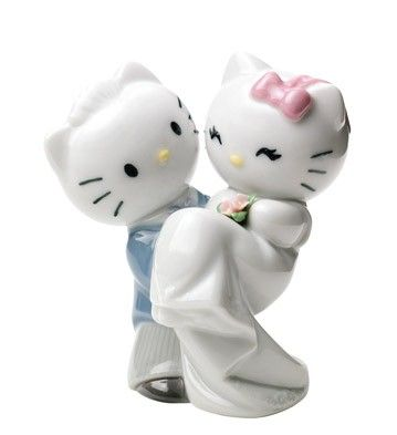 Novios Hello Kitty  - Hello Kitty de porcelana