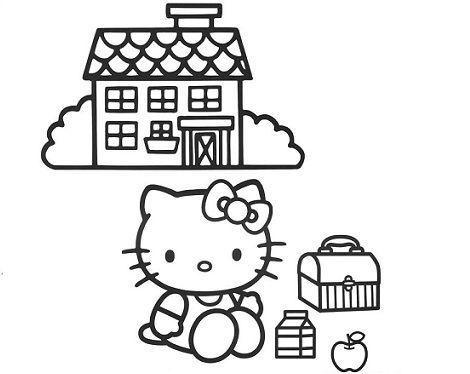 pintar a kitty merienda