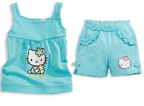 ropa bebe hello kitty conjunto